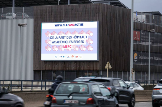 Bannering advertising for Clap & Act