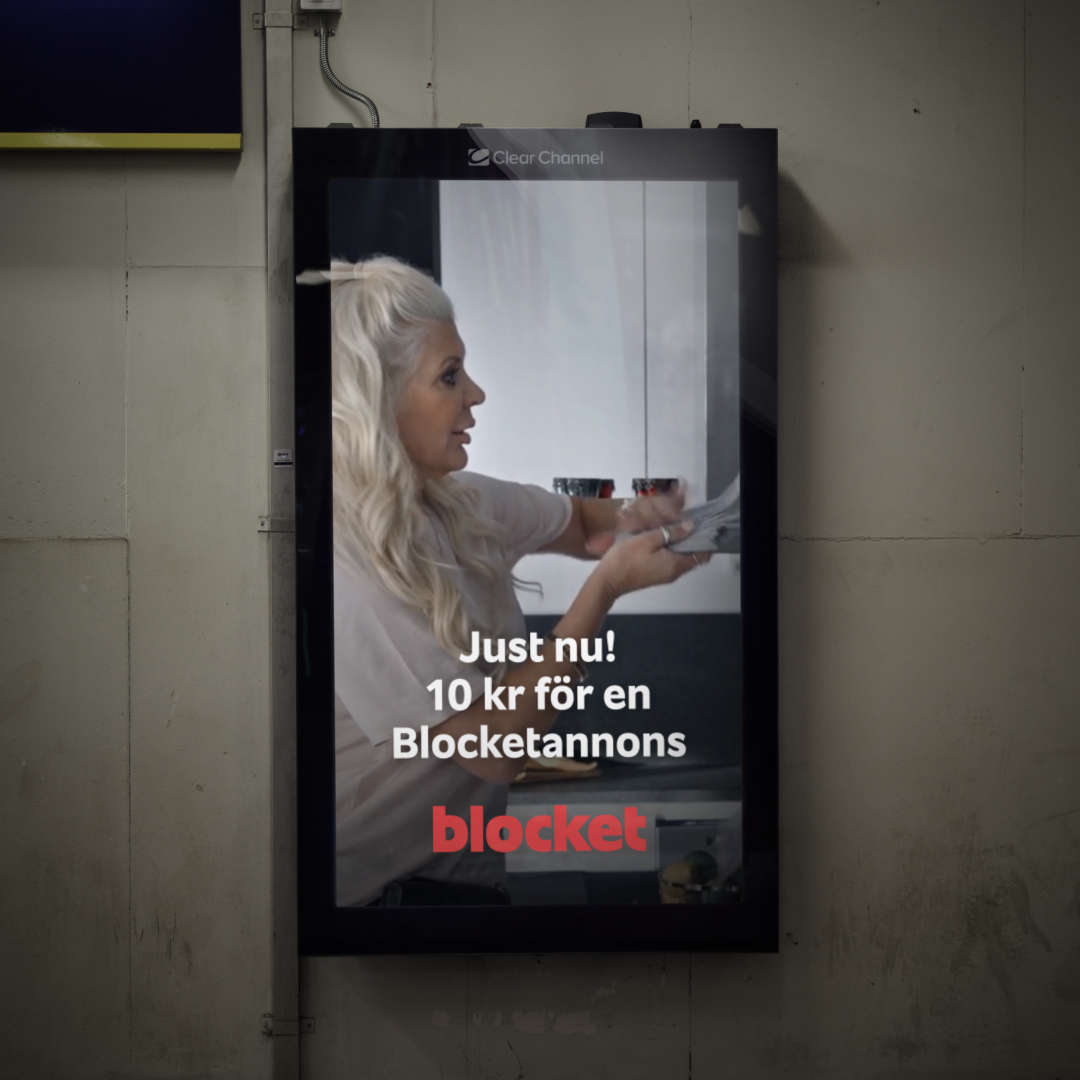 Poster for Blocket campaign
