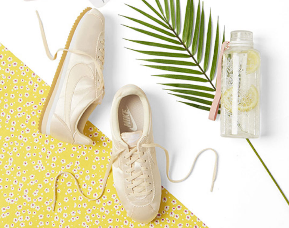 summer sneakers in yellow