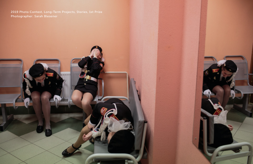Picture of officials in a hospital waiting room